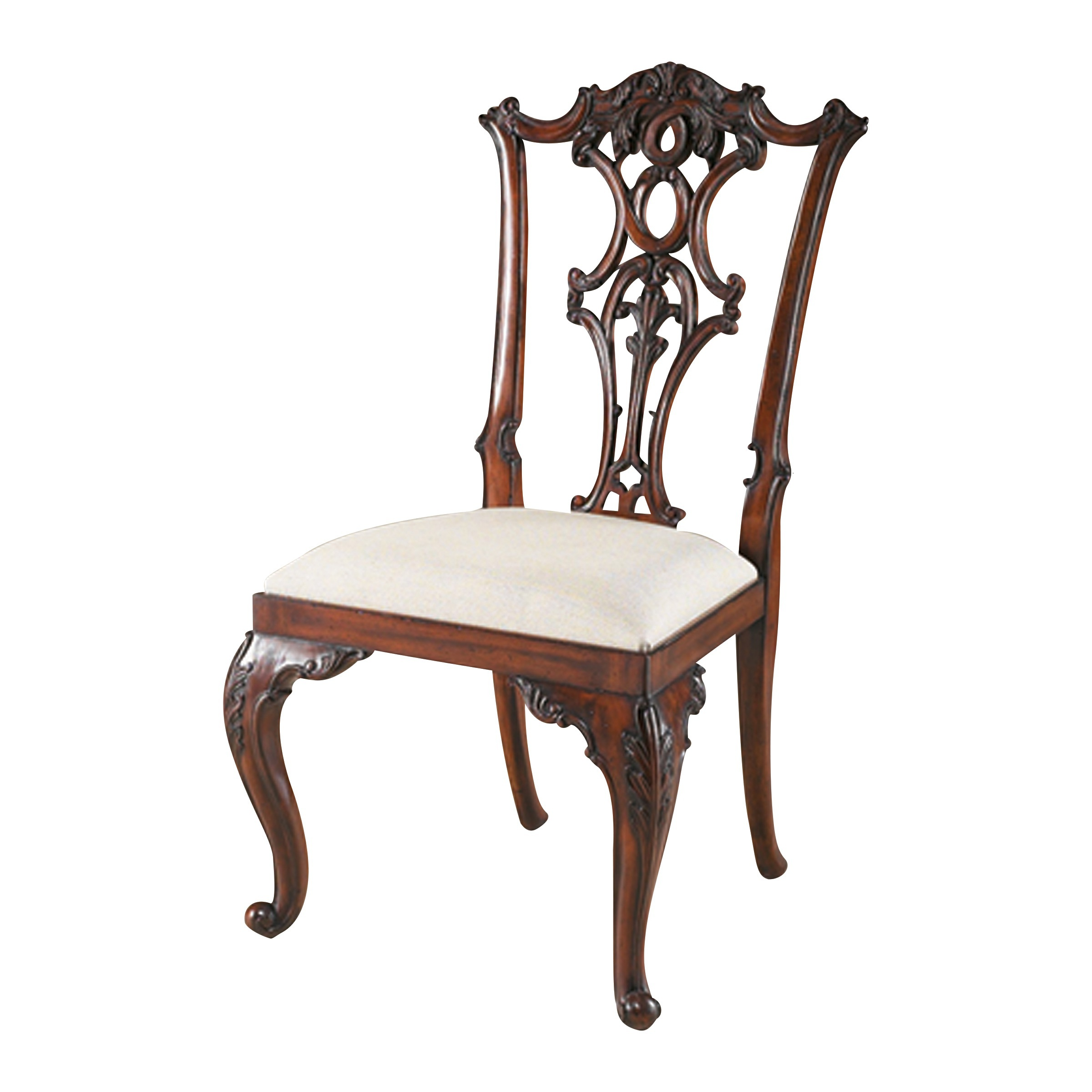 Chair Mahogany With A High Back Maitland Smith Luxury Furniture Mr