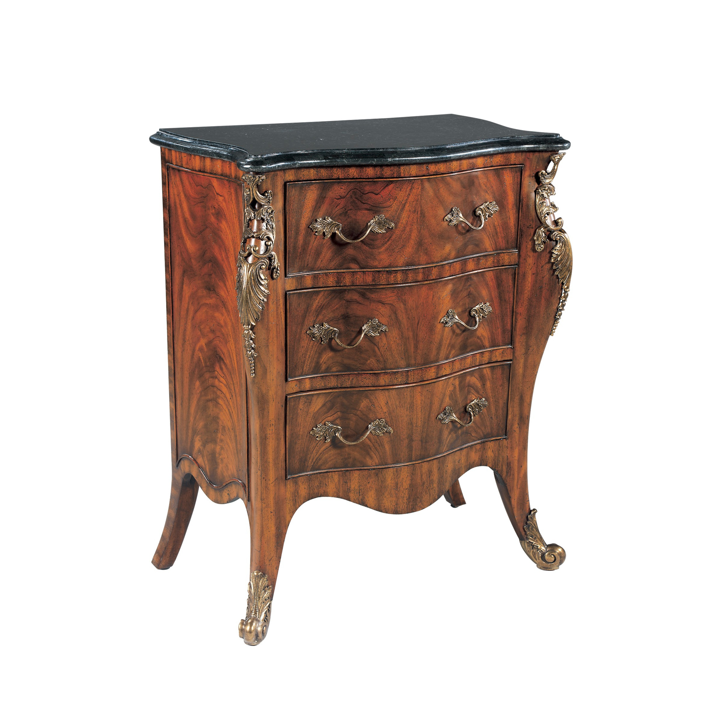 Bedside Table In Mahogany With Three Drawers Maitland Smith Luxury Furniture Mr