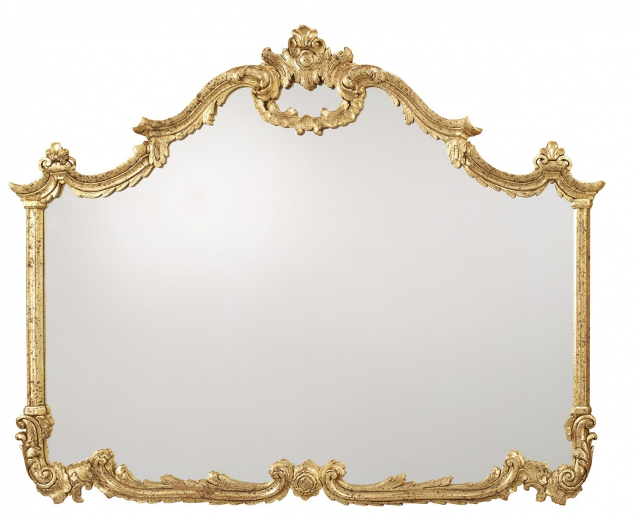 Table Mirror With Metal Frame By La, La Barge Mirrors