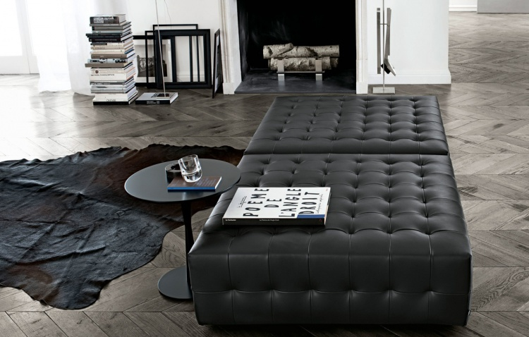 MODULAR SOFA IN LEATHER / TEXTILE UPHOLSTERY, PARK POLIFORM