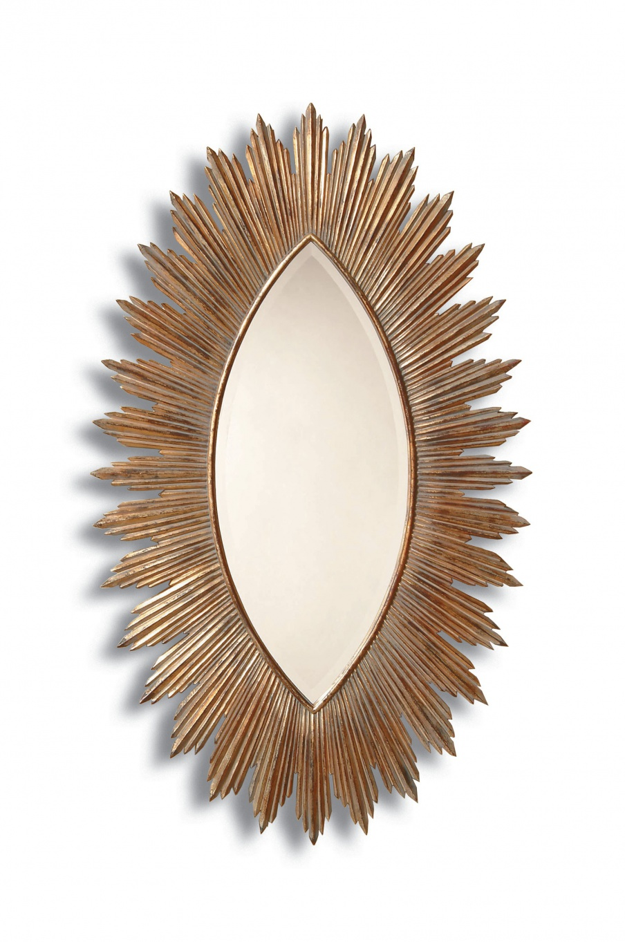 Wall mirror with metal frame by la barge luxury furniture mr for Mirror 40cm wide