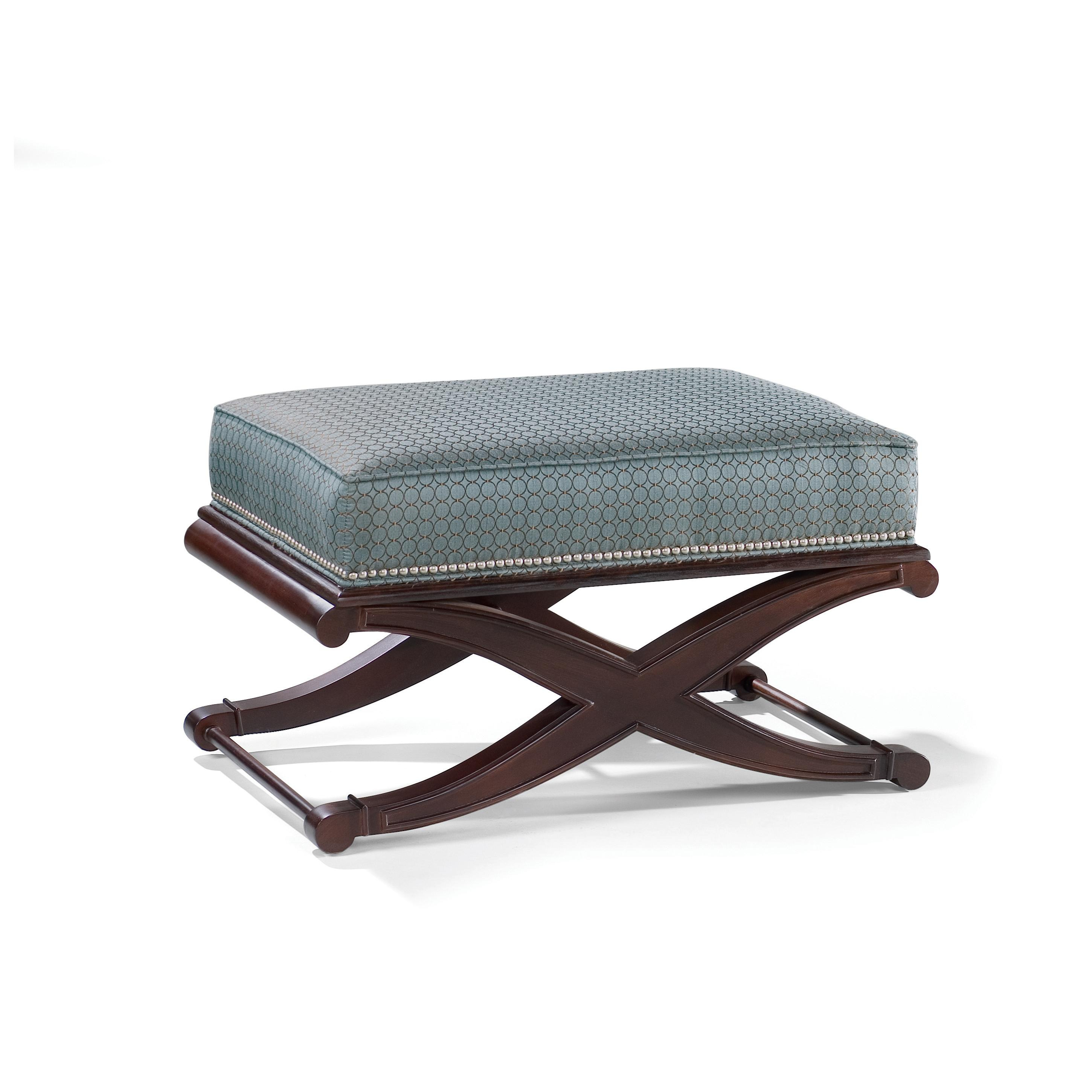 Andre Pouf Upholstered With Legs In Mahogany Sam Moore