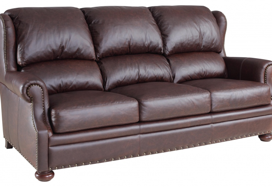 A Sofa With A High Back Stationary Sofa With Wooden Frame Bradington Young Luxury Furniture Mr