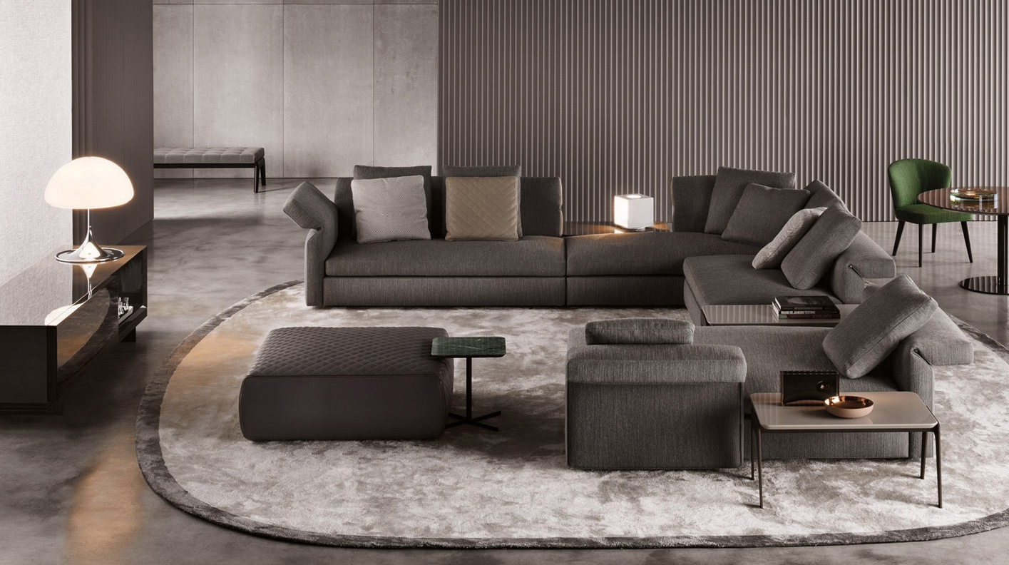 Sofa Modular Collar Minotti Luxury Furniture Mr