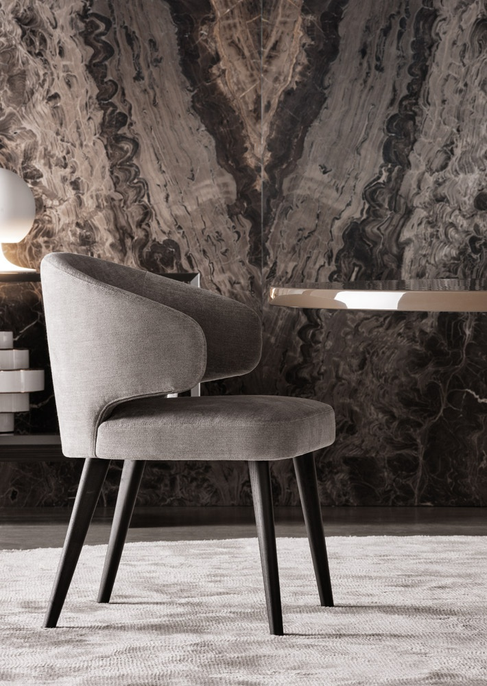 The Aston Dining Chair Minotti Luxury Furniture Mr