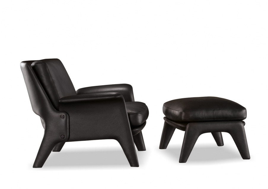 Chair with ottoman glover italian manufacturer minotti for Minotti outlet italy