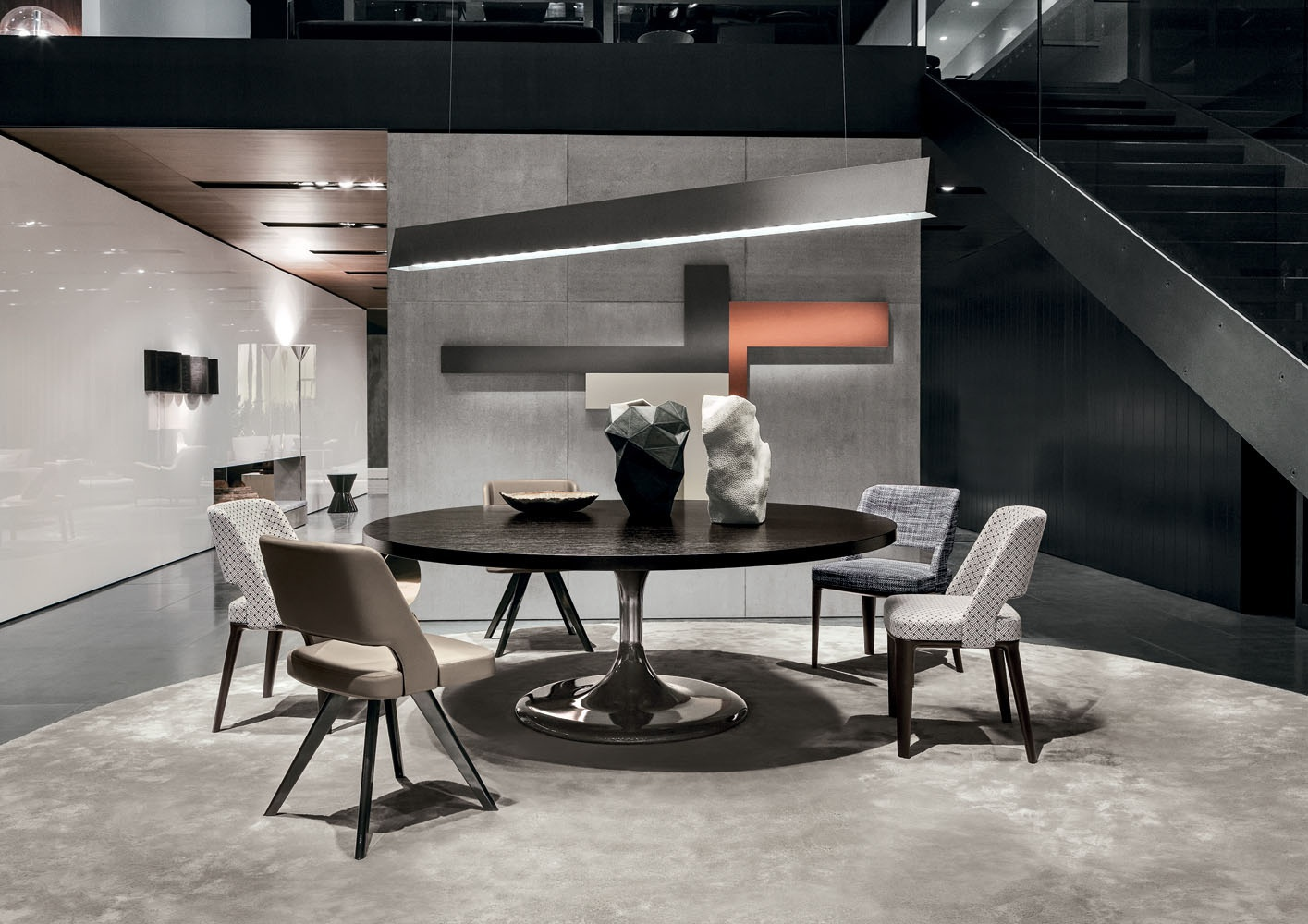 Table Round Dining Neto Minotti
