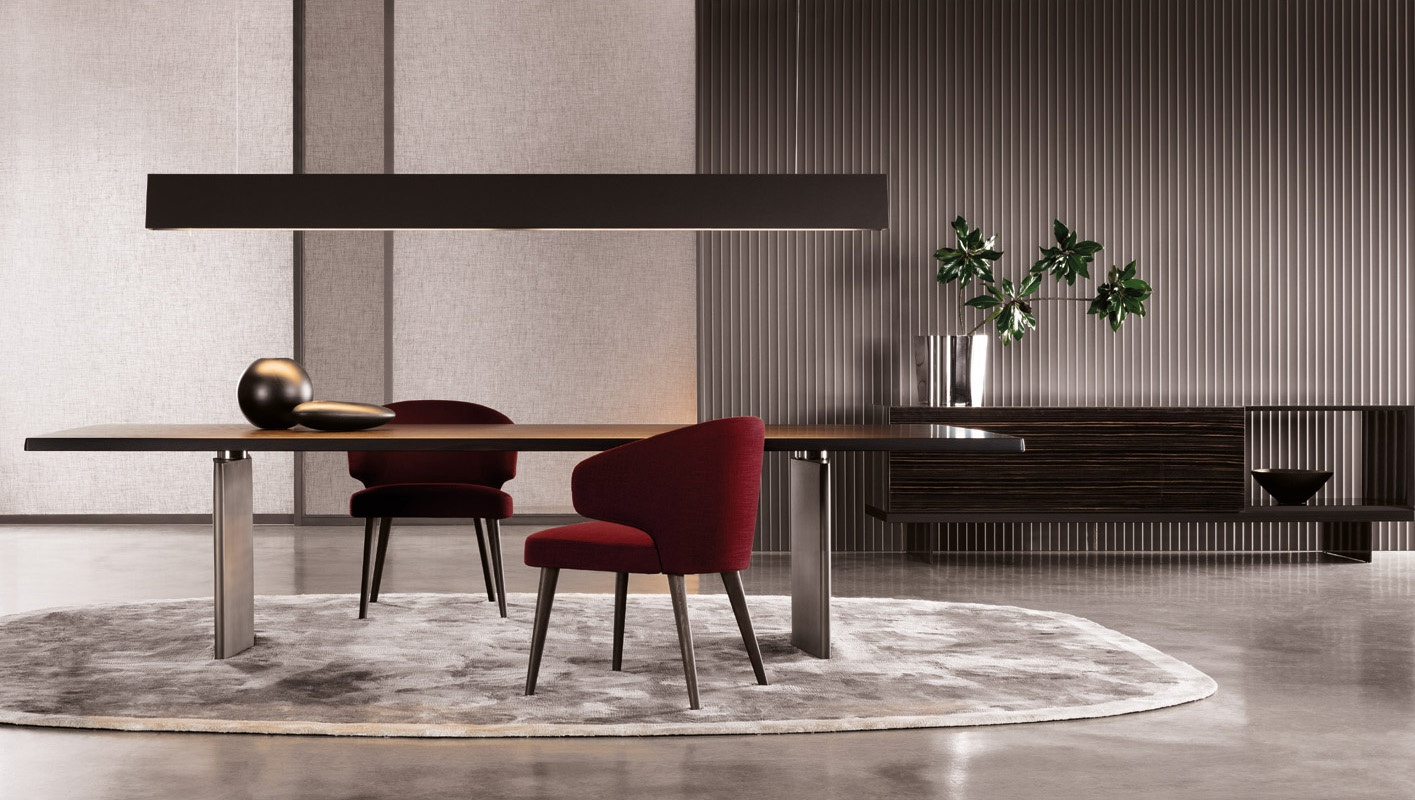 The morgan rectangular dining table minotti luxury for Grande table salle a manger
