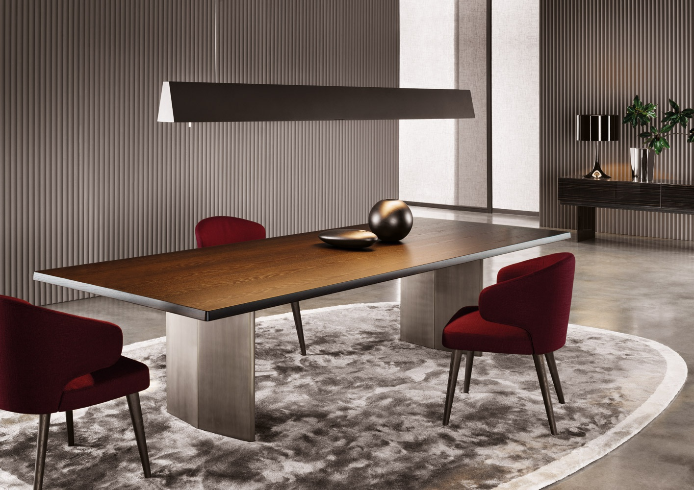the morgan rectangular dining table  minotti luxury designer dining room sets designer dining room chairs