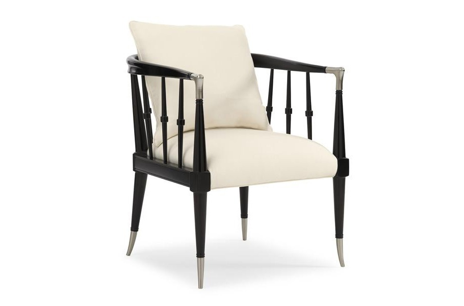 Black Beauty Chair With A Frame Made Of Wood And Metal