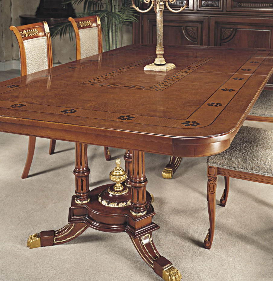 Dining Table Made From Natural Wood Francesco Molon Luxury Furniture Mr