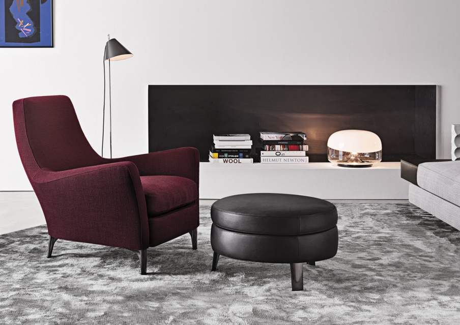 Chair with ottoman denny minotti luxury furniture mr for Minotti outlet italy