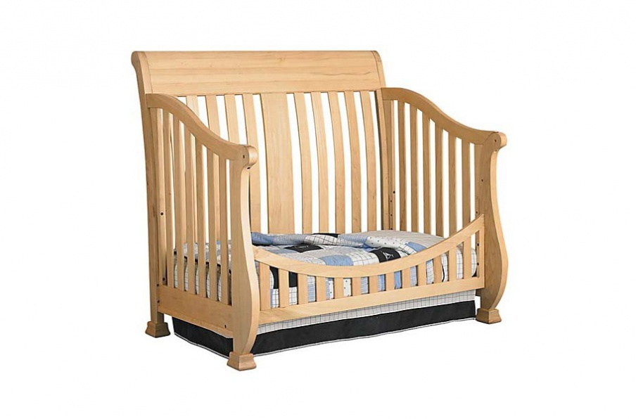 The Cradle Sheraton Court Convertible Crib With Wooden