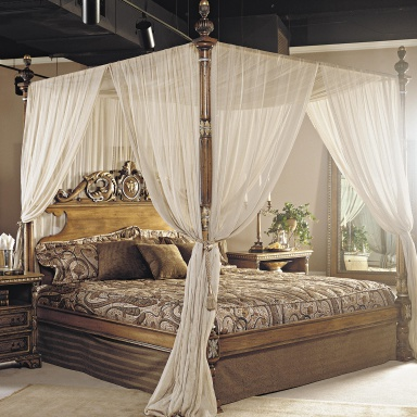 double bed with canopy francesco molon luxury furniture mr