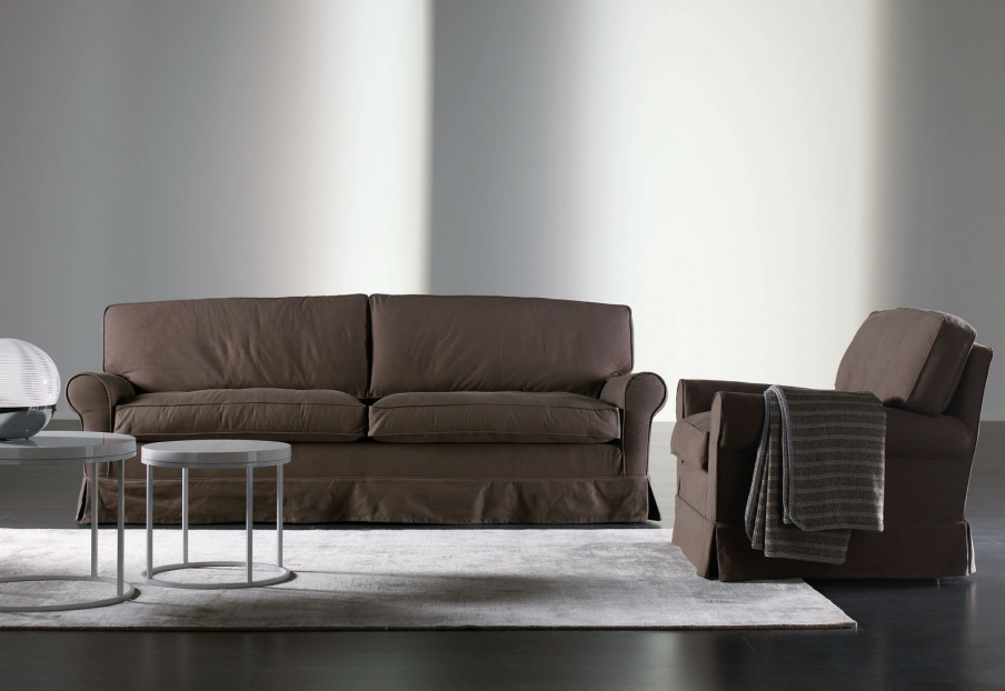 connery three seater sofa with frame of wood meridiani. Black Bedroom Furniture Sets. Home Design Ideas