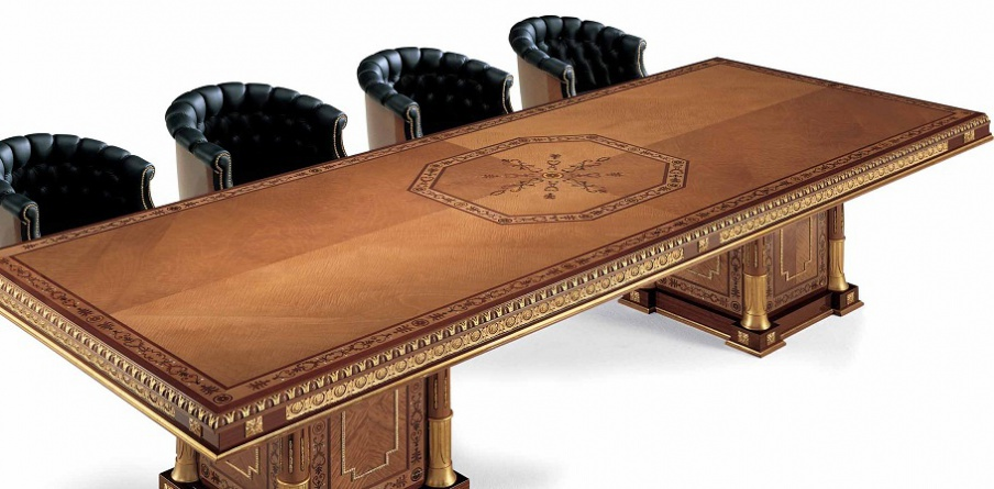 Conference table solid wood elledue luxury furniture mr for 10 person conference table dimensions