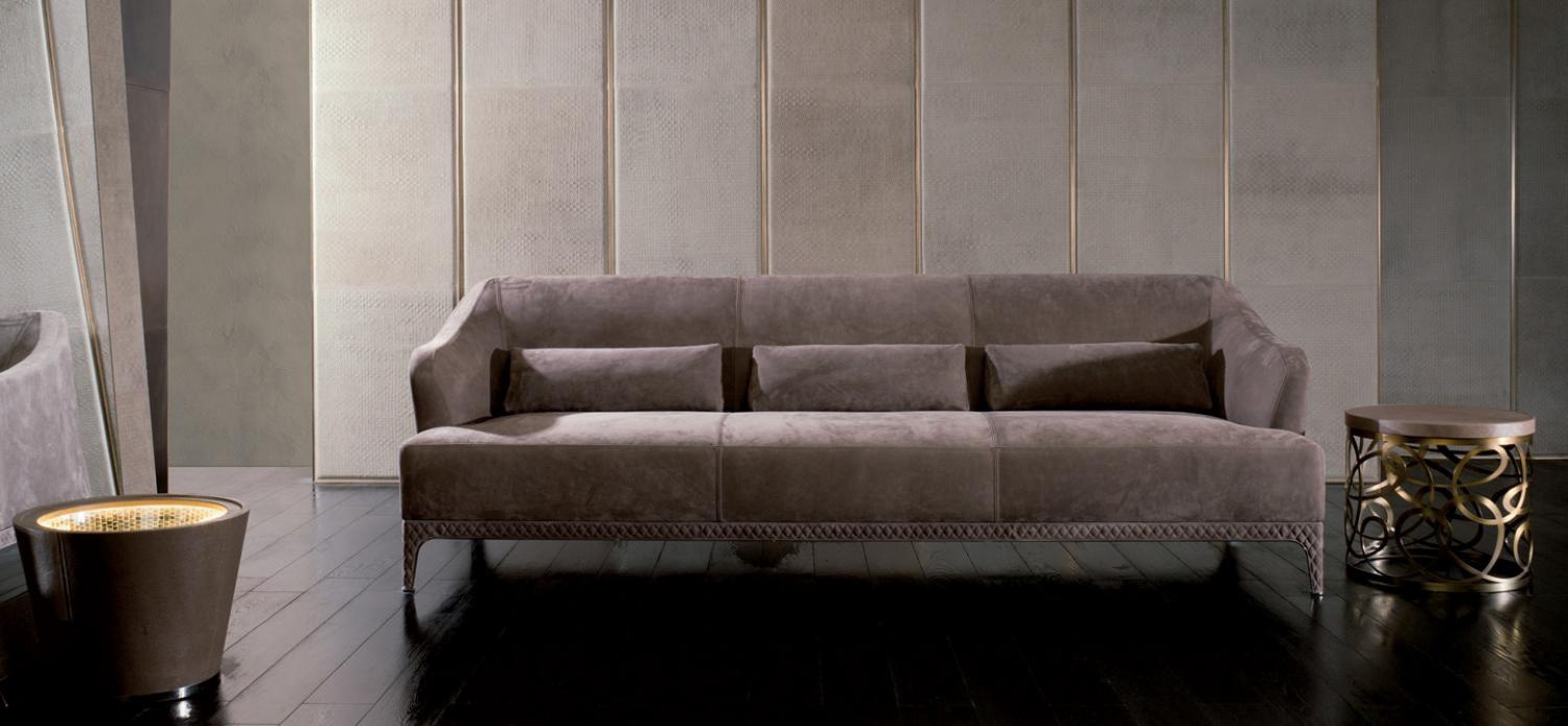 A Sofa With A Table In The Leather Glass Or Marble Oscar