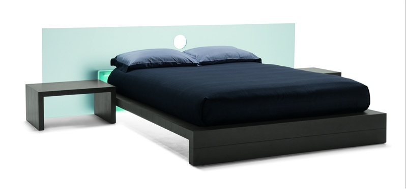 Double bed with glass headboard Le Notti, Mobileffe