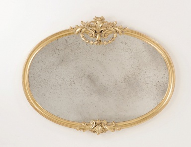 A wall mirror in a frame of wood, Chelini