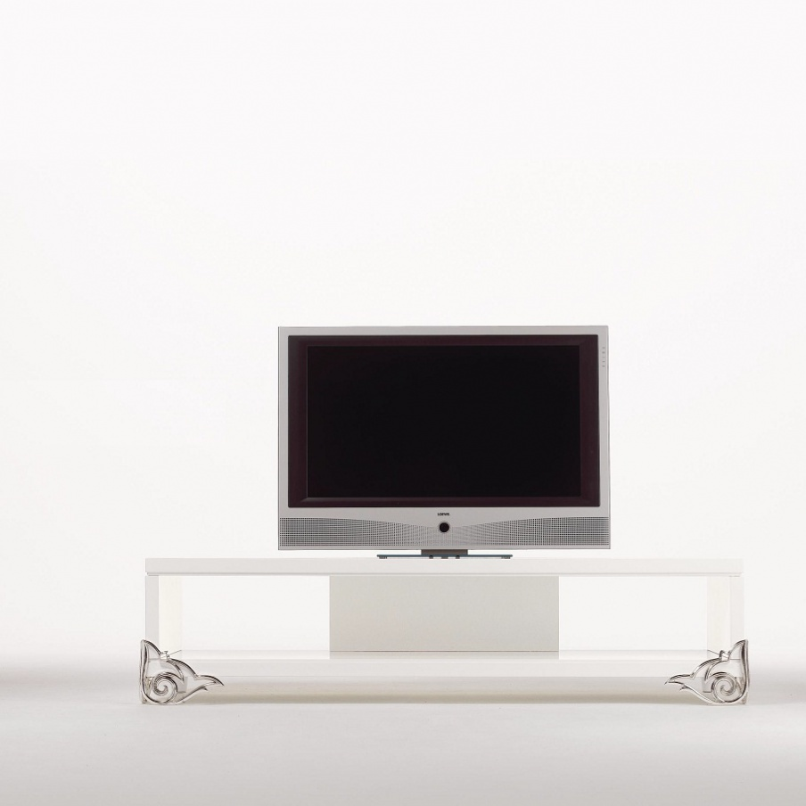 Stand For Tv Of Natural Wood Lacquered Elledue Luxury