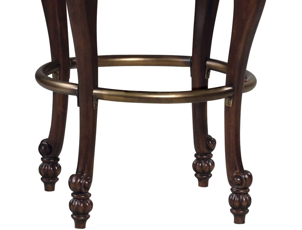 Superb img of Bar stool with armrests Niagara from hard wood Howard Miller Luxury  with #80694C color and 1194x911 pixels