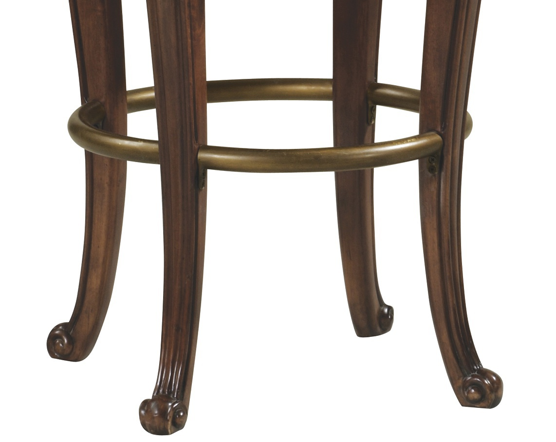 Superb img of Bar stool with armrests Saranac from hard wood Howard Miller Luxury  with #604736 color and 1142x908 pixels