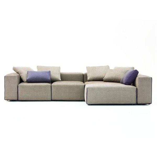 Modular Sofa Upholstered In Leather Or Fabric Field