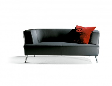 Sofa Wooden Frame Upholstered In Leather Or Fabric Orazio