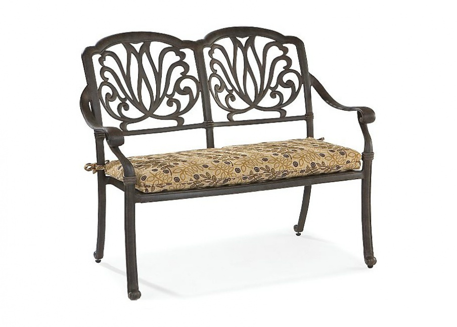 The Charleston Bench With Frame Made Of Metal Lane