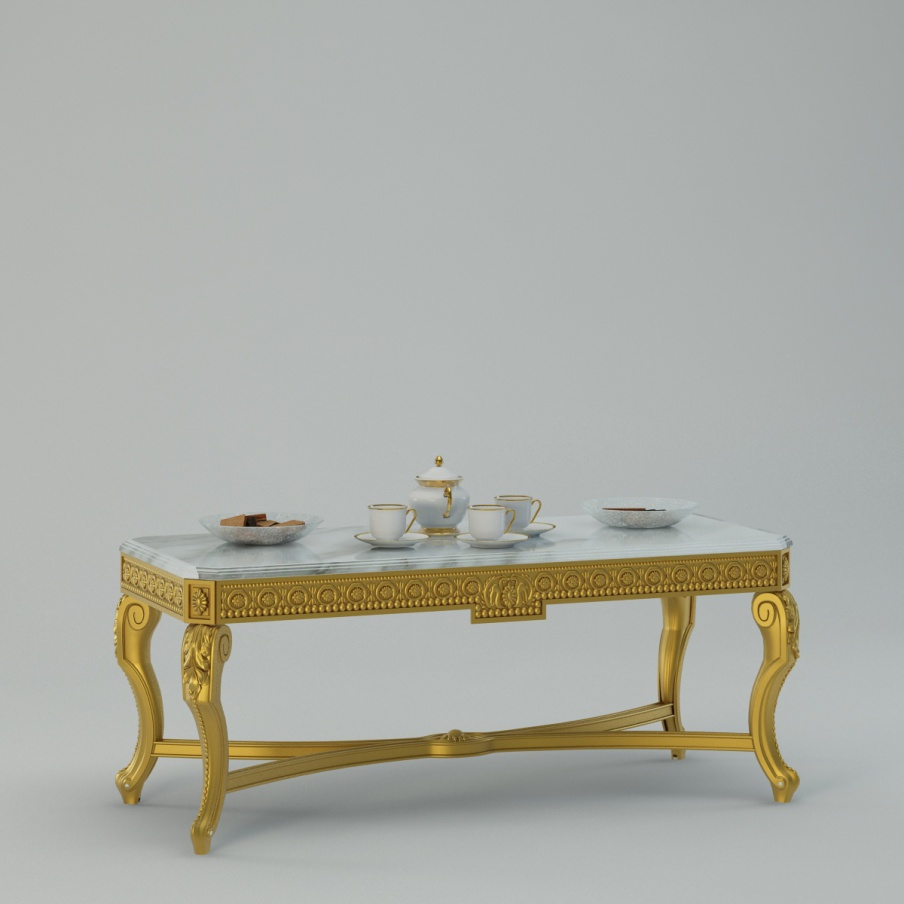 Coffee table with beech and marble top otello turri for Beech coffee table