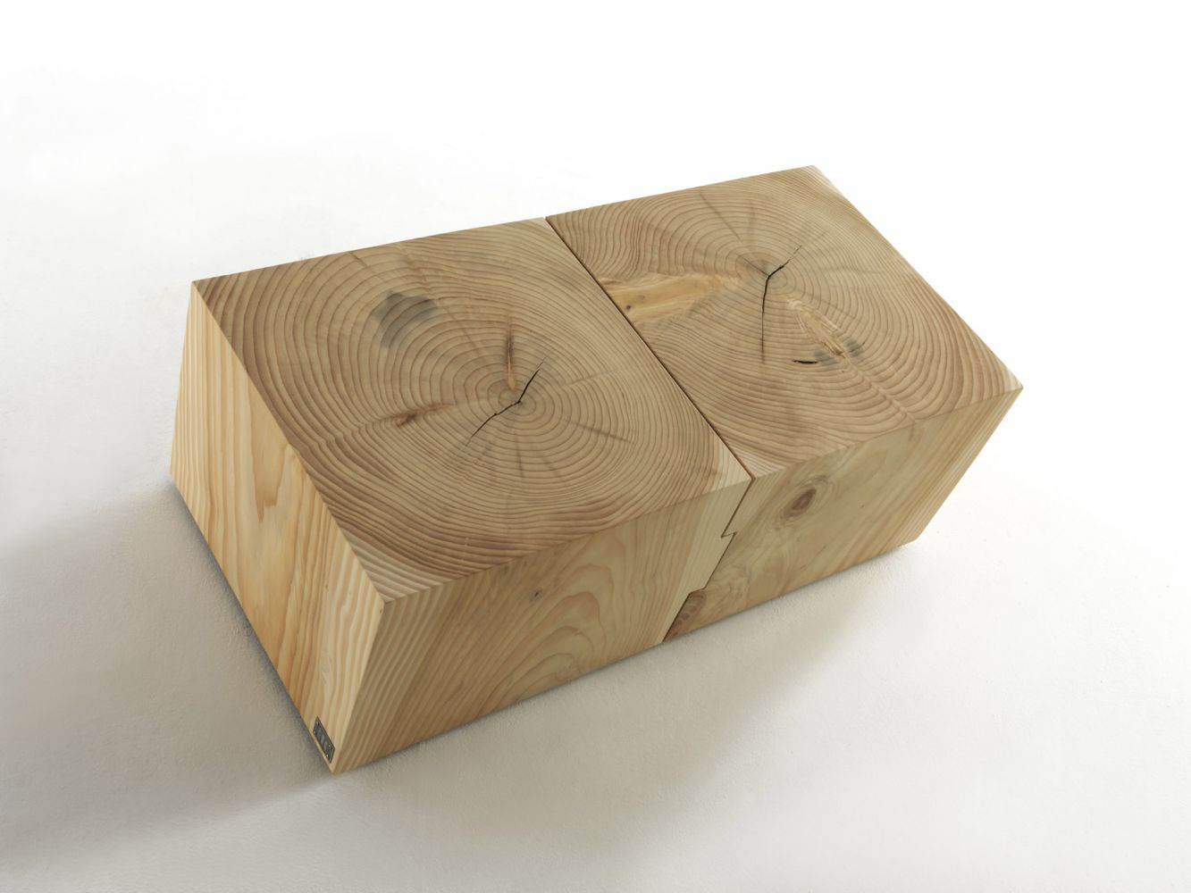 coffee table made of cedar wood eco block riva 1920. Black Bedroom Furniture Sets. Home Design Ideas