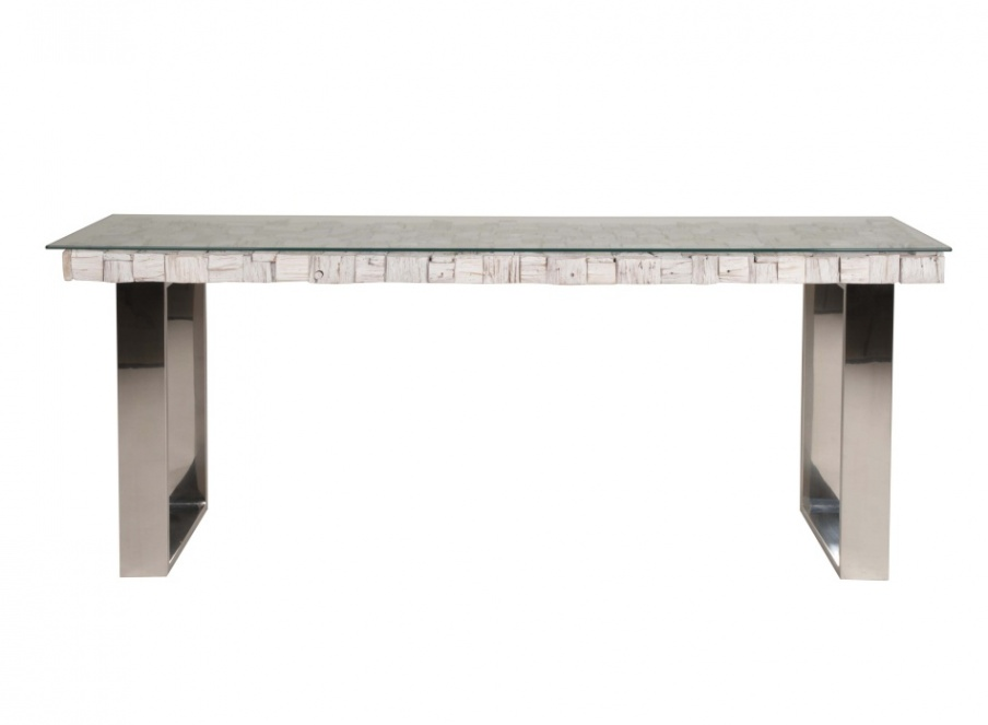 Console rectangular steel base native orient express for Furniture express