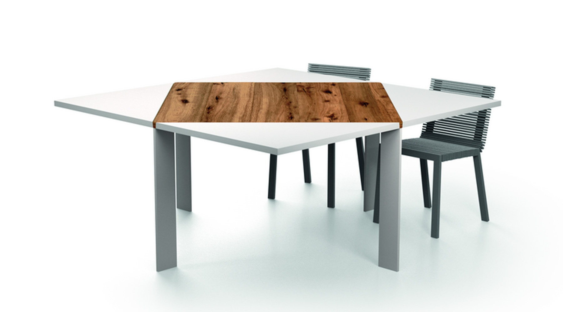 The loto table with square top made of wood lago luxury for Lago furniture