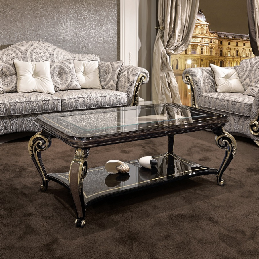 Coffee Table Solid Wood Baroque, Turri
