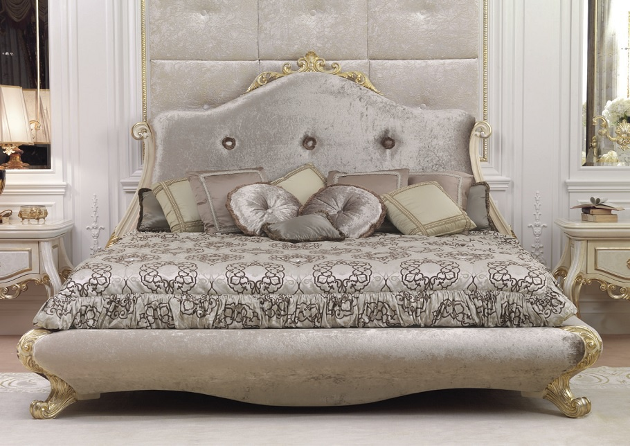 Baroque Bed Frame Double bed frame solid...