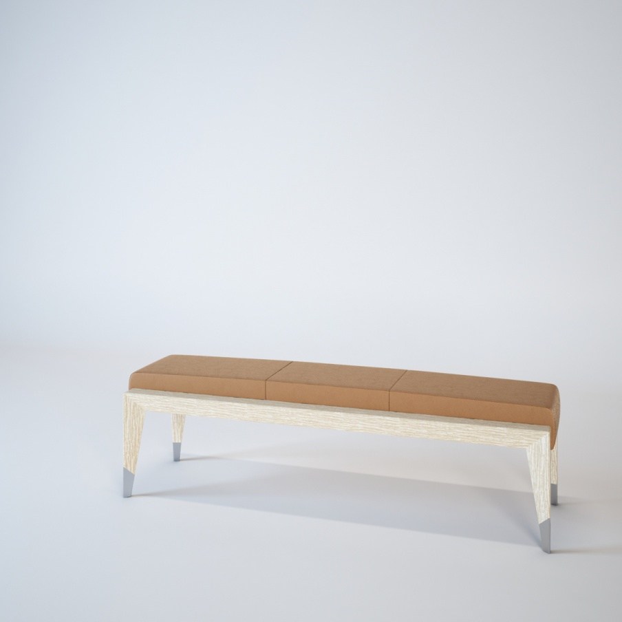 Upholstered Bedside Bench From Wood Of Orion Turri Luxury Furniture Mr