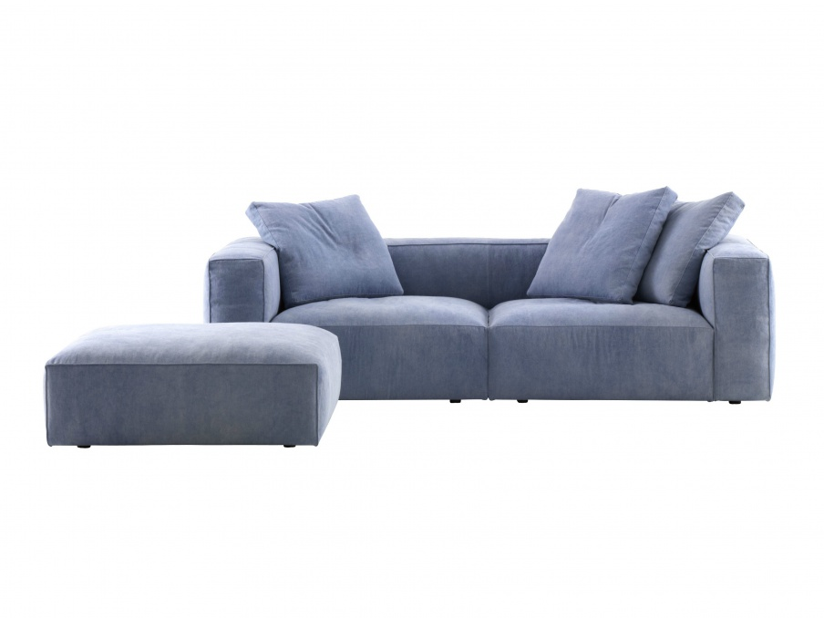 two seater sofa in fabric nils ligne roset luxury. Black Bedroom Furniture Sets. Home Design Ideas