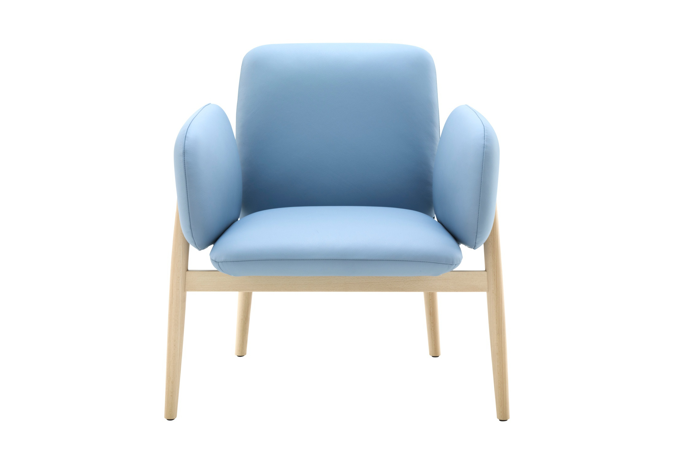 Chair Made Of Natural Wood In Fabric Torii Ligne Roset