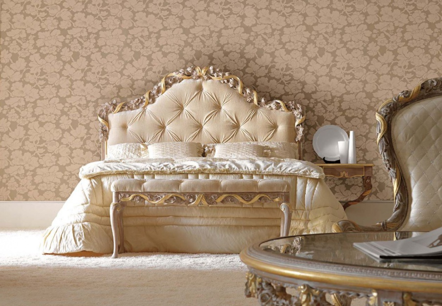 Double Bed With High Upholstered Headboard Ambiente Notte, Savio Firmino