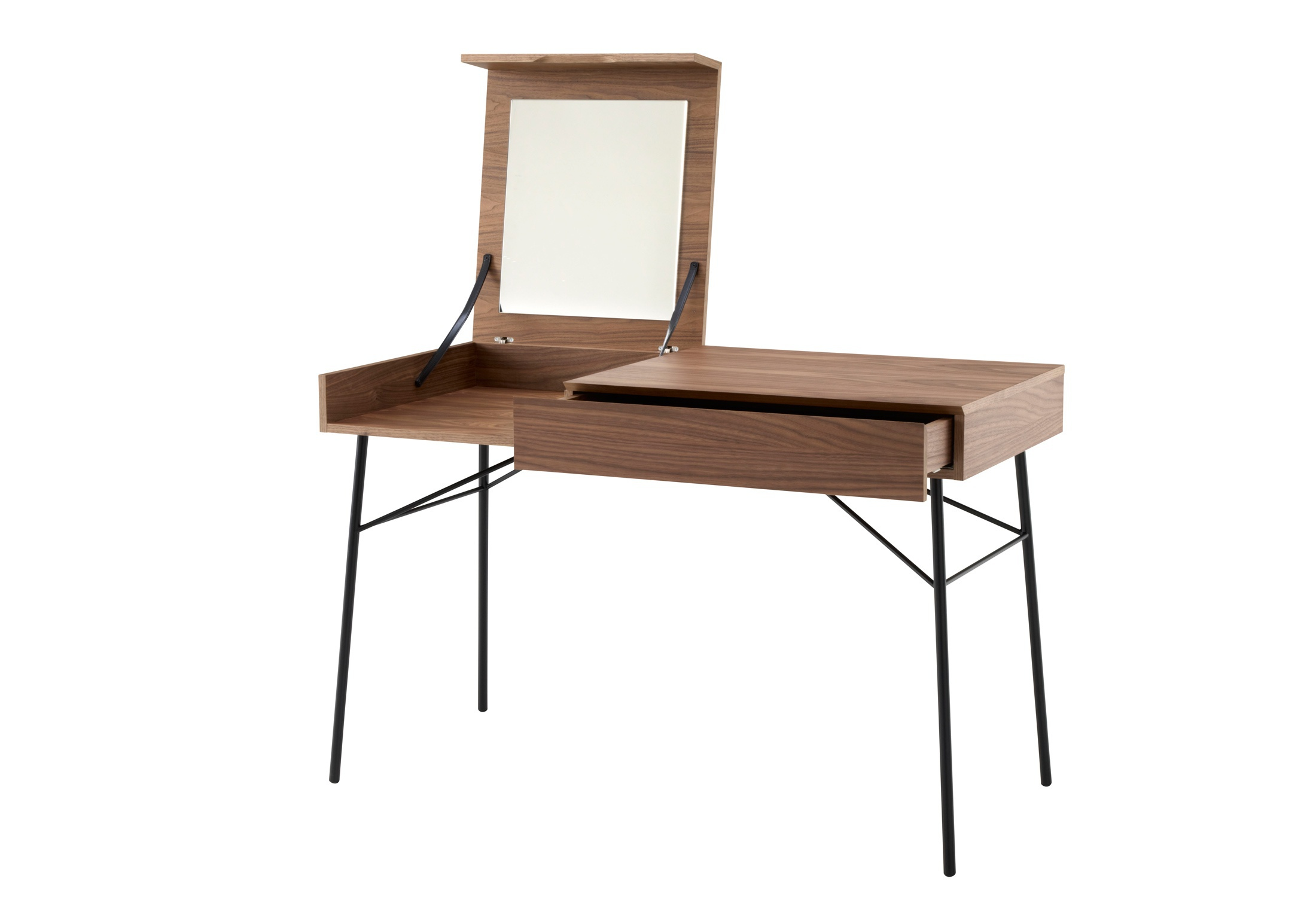 Dressing table made from natural wood juliette ligne for Made dressing table