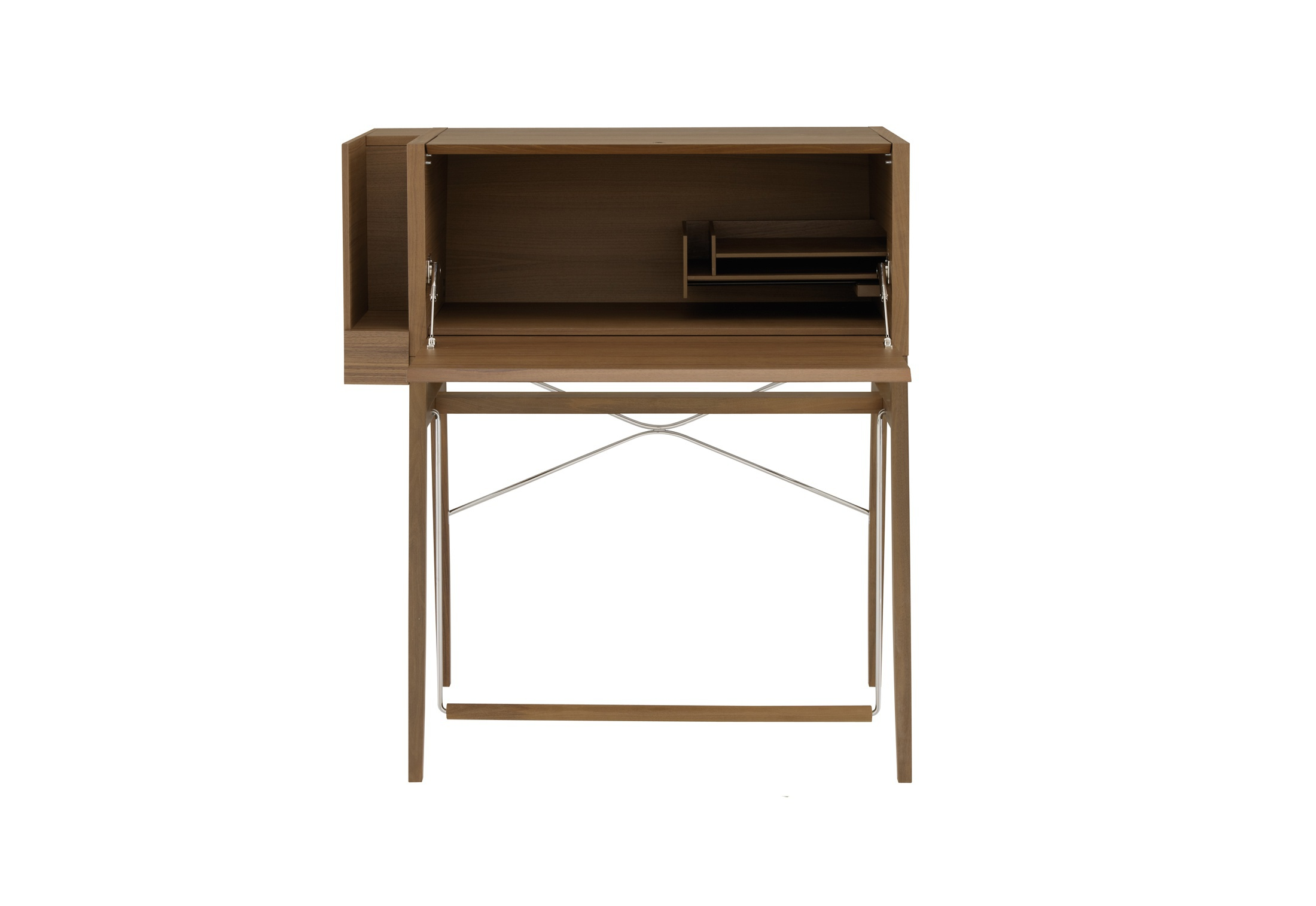 The secretaire of natural wood with compartments storage for La ligne roset