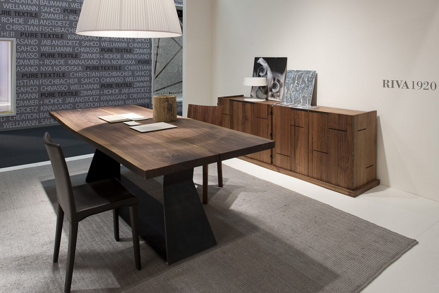 Dining Table With Metal Support Bedrock Plank C Riva 1920