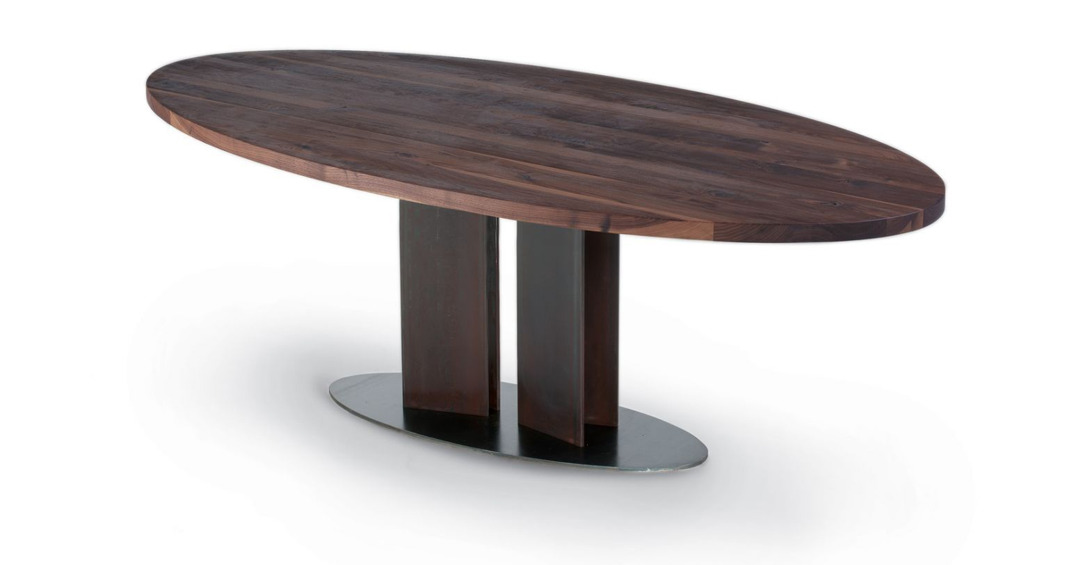 Dining table with oval top natura ovale riva 1920 luxury furniture mr - Table ovale rallonge ...