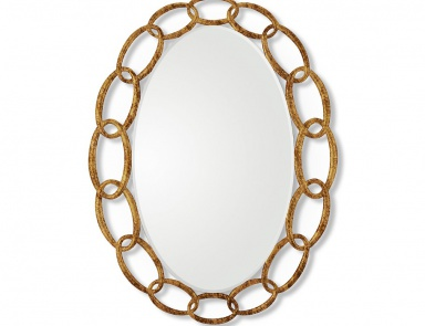 A mirror in a frame of bleached oak collection time for Gil arredamenti