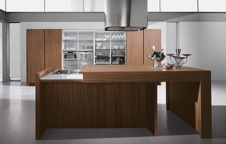 Kitchen (kitchen set) Aster Cucine, Contempora, Noce Canaletto ...