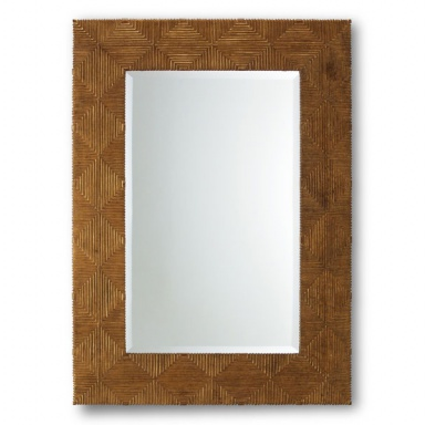 Wall mirror with frame in natural wood harlequin for Gil arredamenti