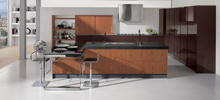 Kitchen kitchen set aster cucine contempora - Aster cucine outlet ...