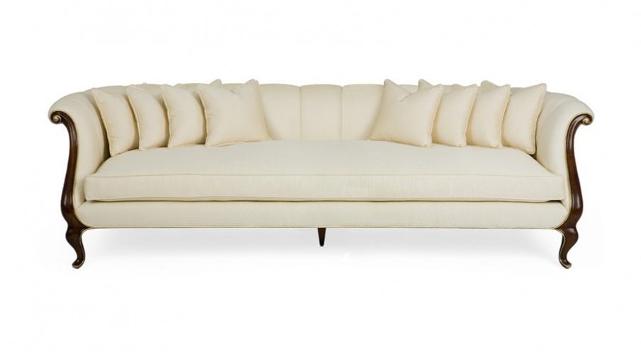 Three Seater Sofa In Fabric Clicquot