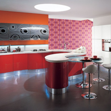 Kitchen furniture kitchen) Laccato