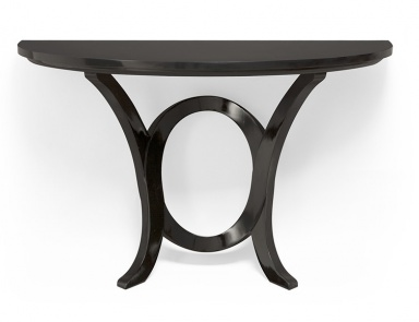 The semi circular console made of solid wood in the for Gil arredamenti
